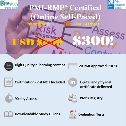 PMI Risk Management Professional (PMI-RMP)® Certified – Online Self Paced