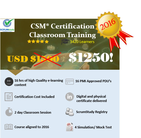 Scrum Master Certification CLASSROOM TRAINING IN NEW YORK,NY