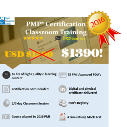 PMI PMP Live Classroom Training in New York for USD 1390