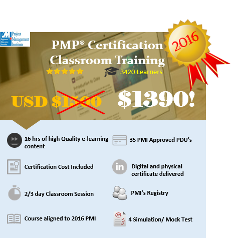 PMP® CERTIFICATION CLASSROOM TRAINING IN NEW YORK, NY