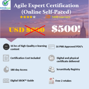 Agile Expert Certification Online Self-paced Course USD 500