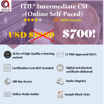 ITIL Intermediate CSI – ITIL® (Online Self Paced)