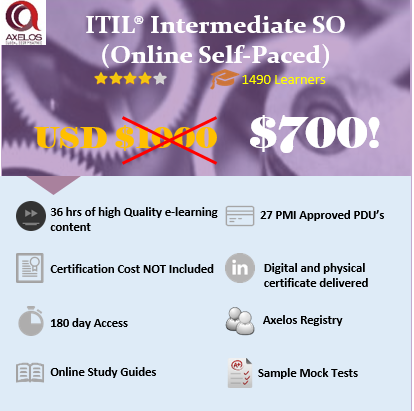 ITIL Intermediate SO – ITIL® (Online Self Paced)