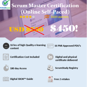 Scrum Master Certification Online Self-paced Course Now USD 450