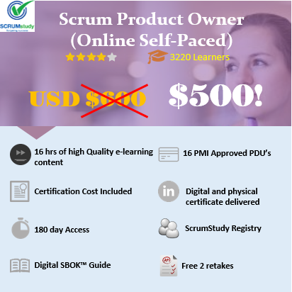 Scrum Product Owner Certification (Online Self Paced)