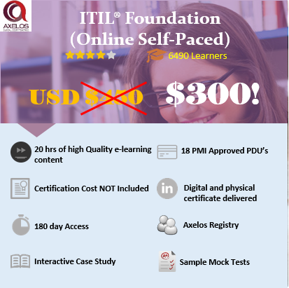 ITIL Foundation – ITIL® (Online Self Paced)