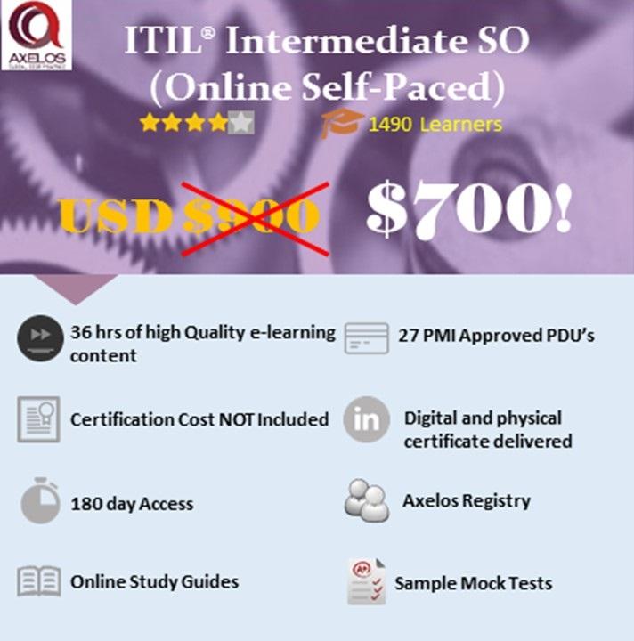 Itil Intermediate So Icertify Training